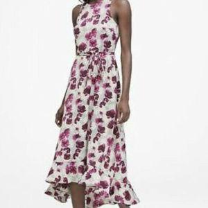NWT Banana Republic Fit N Flare Floral Dress Sz-4